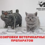 Дозировка лекарства для кошек, таблицы ветеринарных препаратов