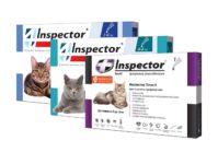 Инспектор Квадро К капли на холку для кошек от блох, клещей, глистов