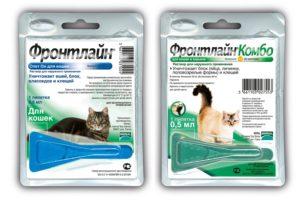 Капли Фронтлайн Комбо, Спот он для кошек, собак — инструкция по применению